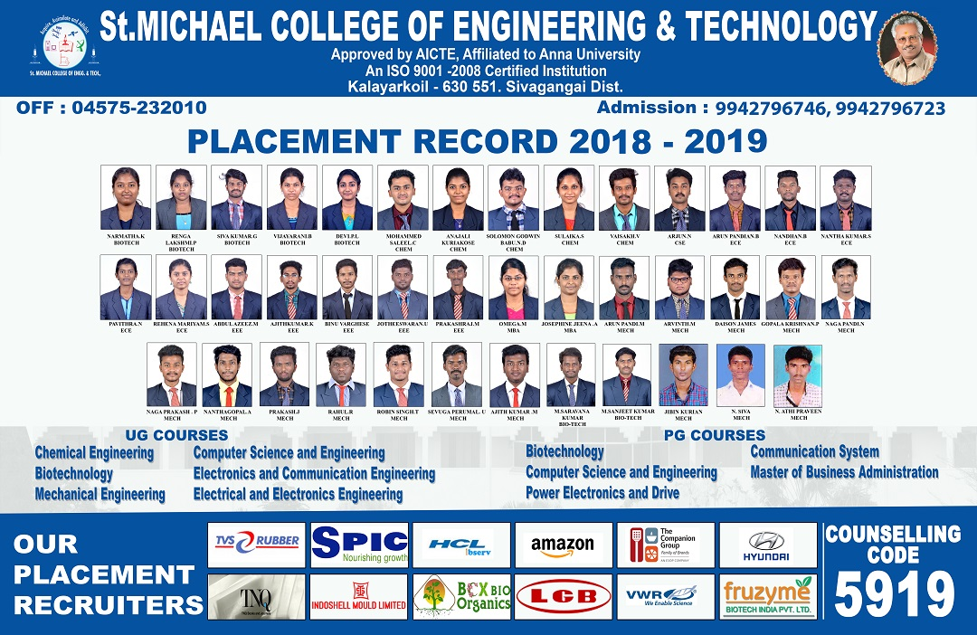 St  Michael College of Engineering and Technology, Kalayar koil